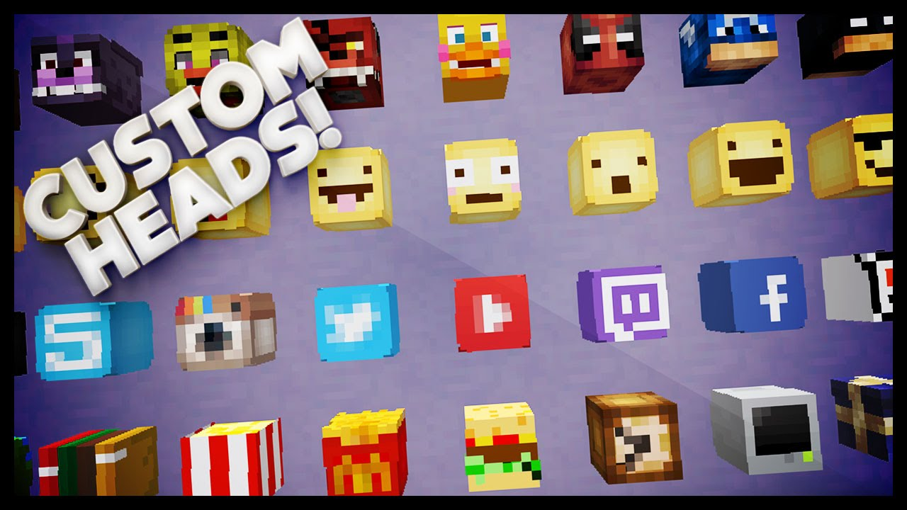 Minecraft How To Get Custom Heads Youtube
