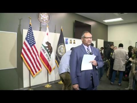 Stanislaus County Sheriff Dept. press conference on cop killer suspect arrest