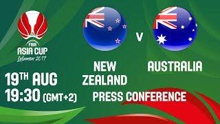 New Zealand v Australia - Live - Press Conference - FIBA Asia Cup 2017
