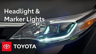 Toyota How-To: Headlight & Marker Lights | Toyota
