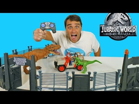 jurassic-world-rc-jeep-wrangler-raptor-attack-!-||-toy-review-||-konas2002