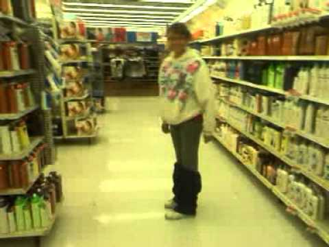 Emily mooning at WalMart!