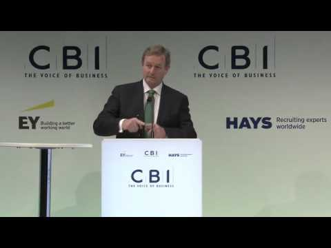 Enda Kenny at the CBI Annual Conference.