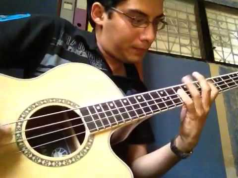 Hysteria acoustic bass cover test