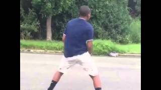 Boy dancing and get hit by a car