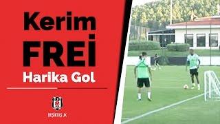 Kerim Frei'den minyatür kale maçta harika gol