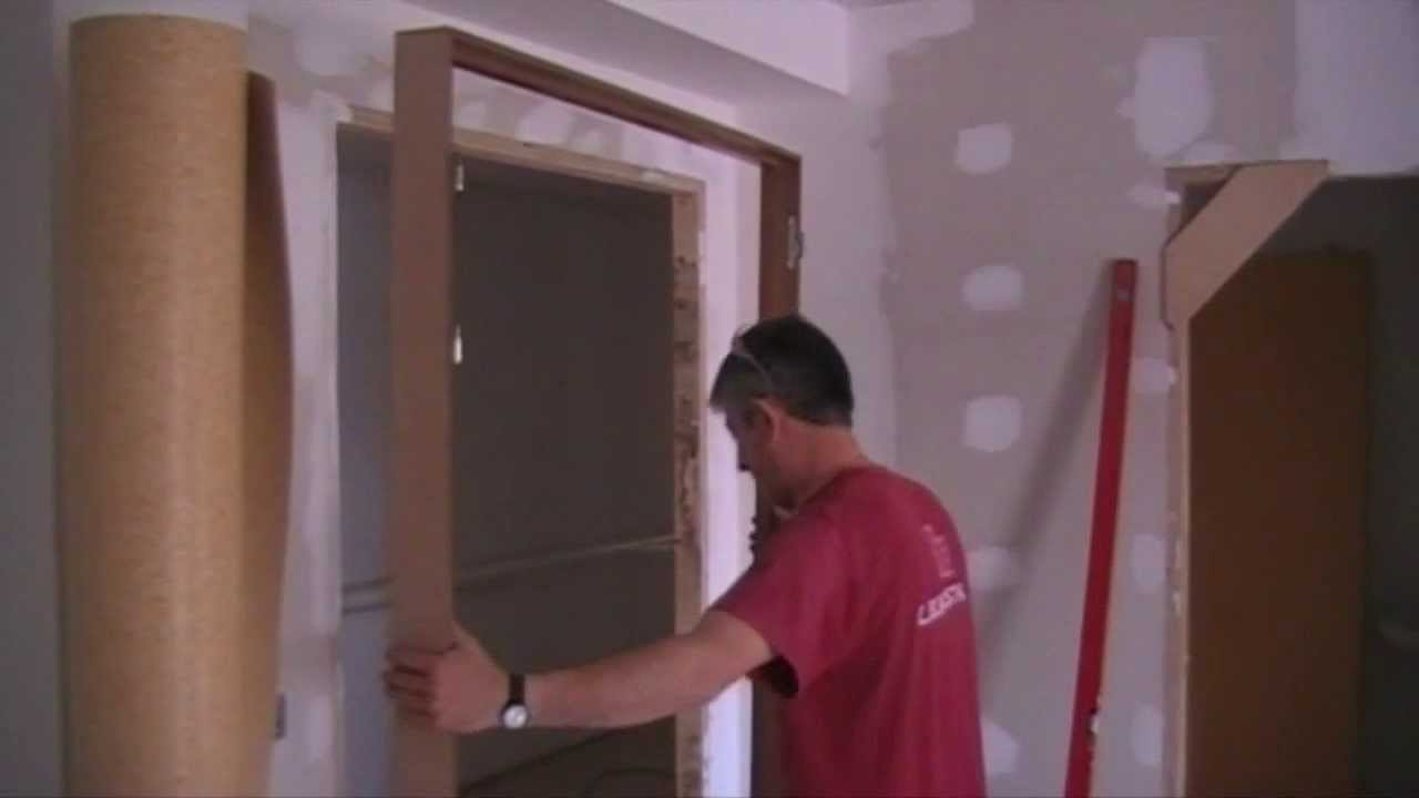 how to install a door como instalar una puerta youtube