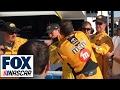 Kyle Busch Punches Joey Logano in Face | 2017 LAS VEGAS | FOX NASCAR