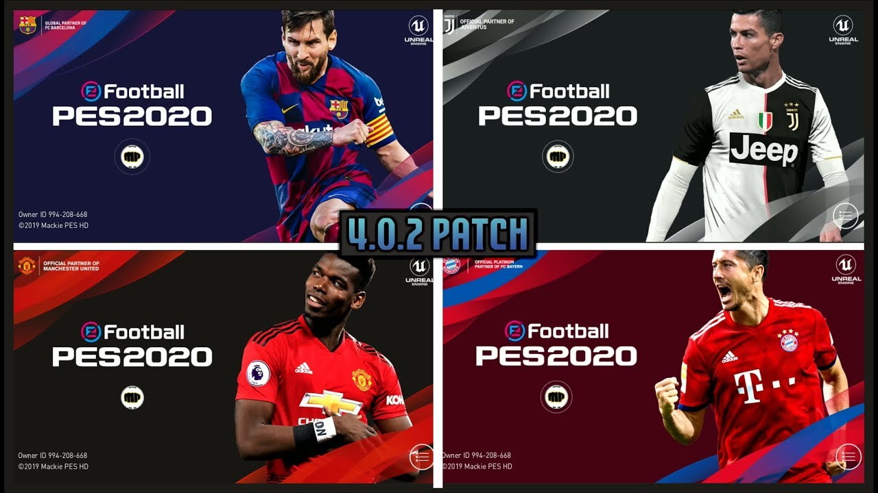 PES 2020 MOBILE PATCH • NEW STARTSCREEN • BACKGROUND • KITS