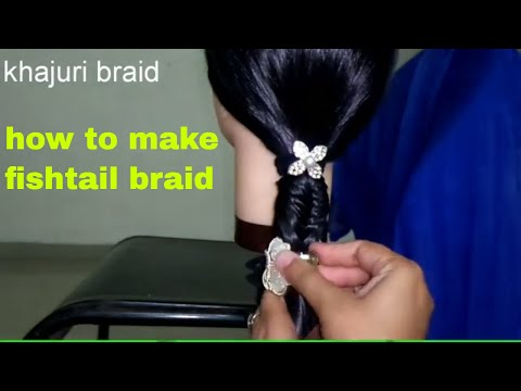 French Fishtail Braid (Updo)  Hairstyles | Braided Hairstyles