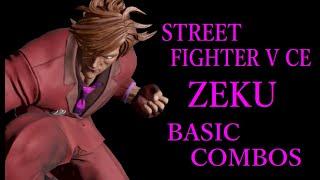 STREET FIGHTER V CE ZEKU BASIC COMBOS【スト5CE 是空 基礎コンボ】