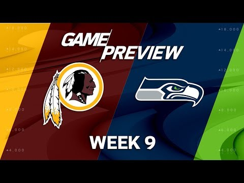 Washington Redskins vs. Seattle Seahawks | NFL Week 9 Game Previews | Move the Sticks
