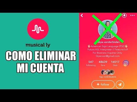 Como eliminar mi cuenta de musical.ly en Español