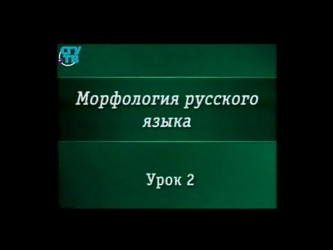 Урок 2. Имя существительное как часть речи. Лексико-грамматические разряды существительных
