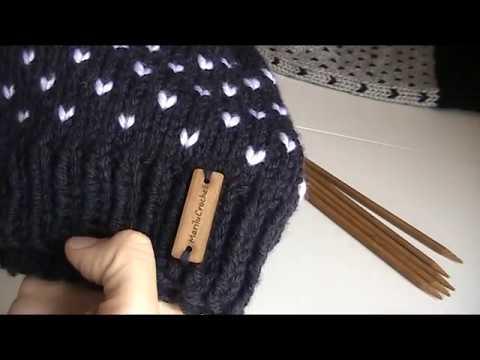 Cappello cuori a maglia 9b3095b0a950