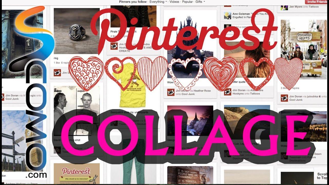 C mo hacer un collage en pinterest youtube - Como hacer un collage de fotos a mano ...