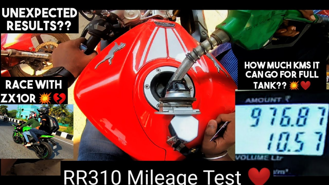 Mileage of RR310 ❤️With ZX10R 💥|| Accurately calculated ❤️