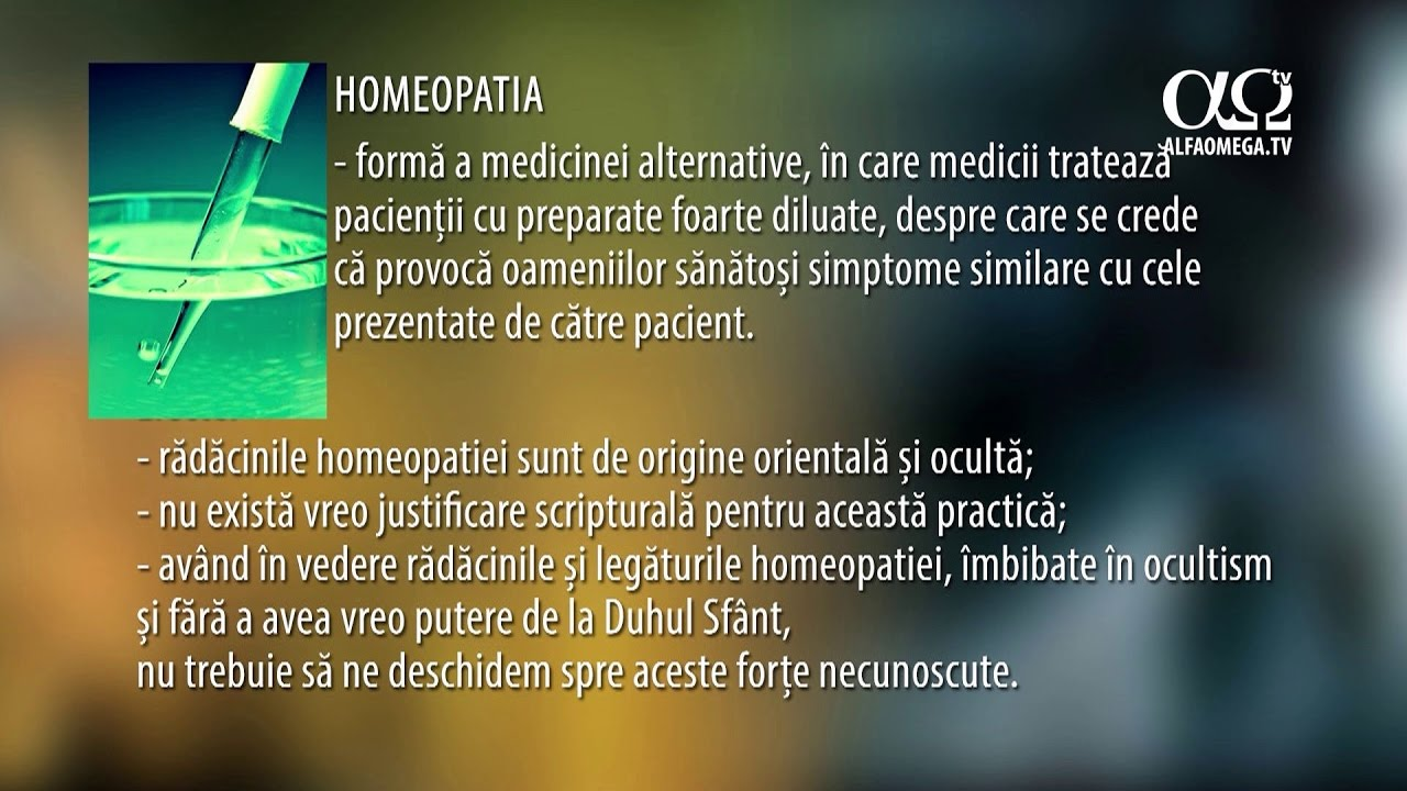 Homeopatia - o perspectiva crestina - David Moza, director, Ellel Ministries