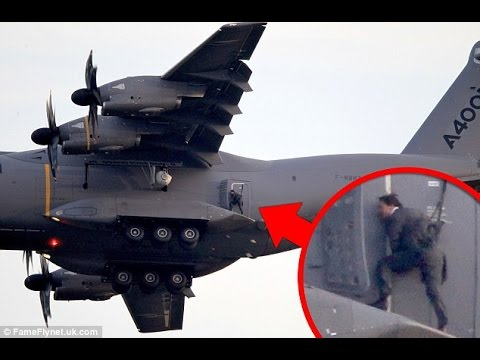 Tom Cruise's Mission Impossible stunt at RAF Wittering   BBC News