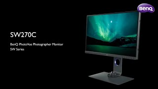 BenQ SW270C 27 Inch Photographer Monitor 1440P. 99% Adobe RGB IPS