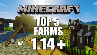 Top 5 simple MUST HAVE survival farms 1.14.4