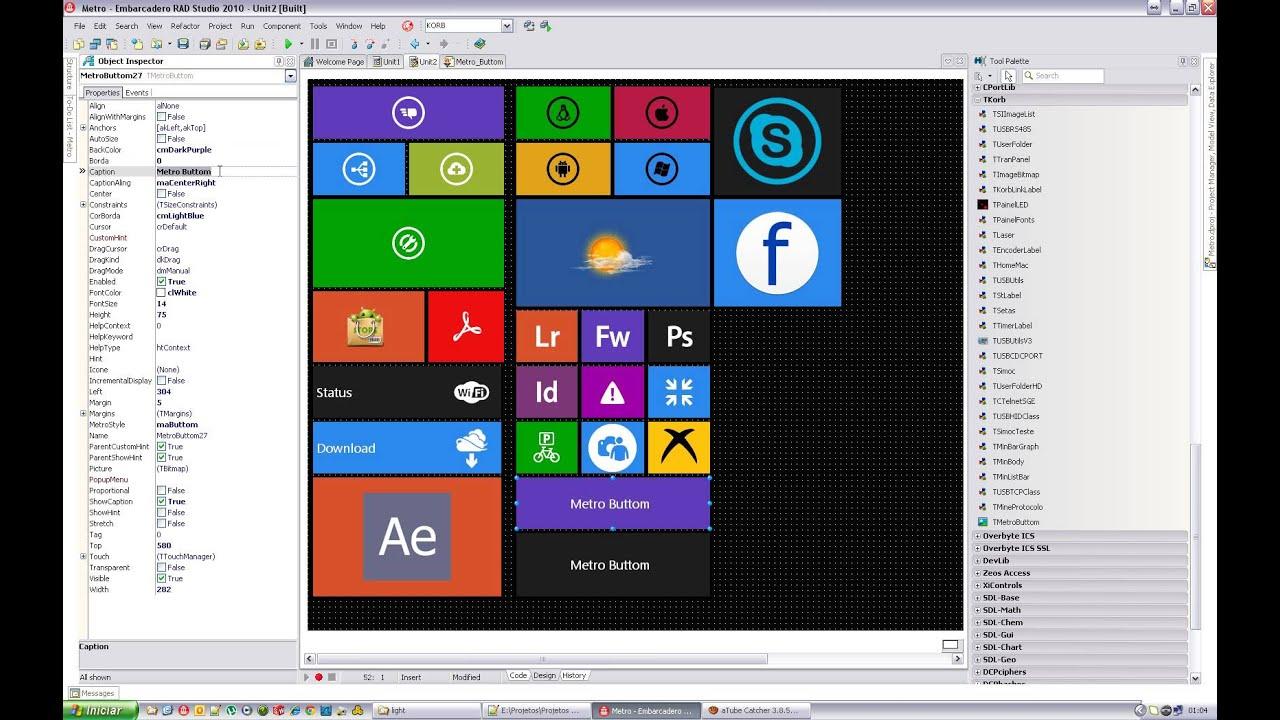 software estilo windows 8 metro delphi 2010 youtube. Black Bedroom Furniture Sets. Home Design Ideas