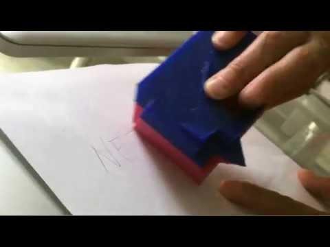 Eraser rubber sculpture