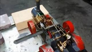 Working Scale Case Steam tractor.  built from Rudy Kalhoupt plans