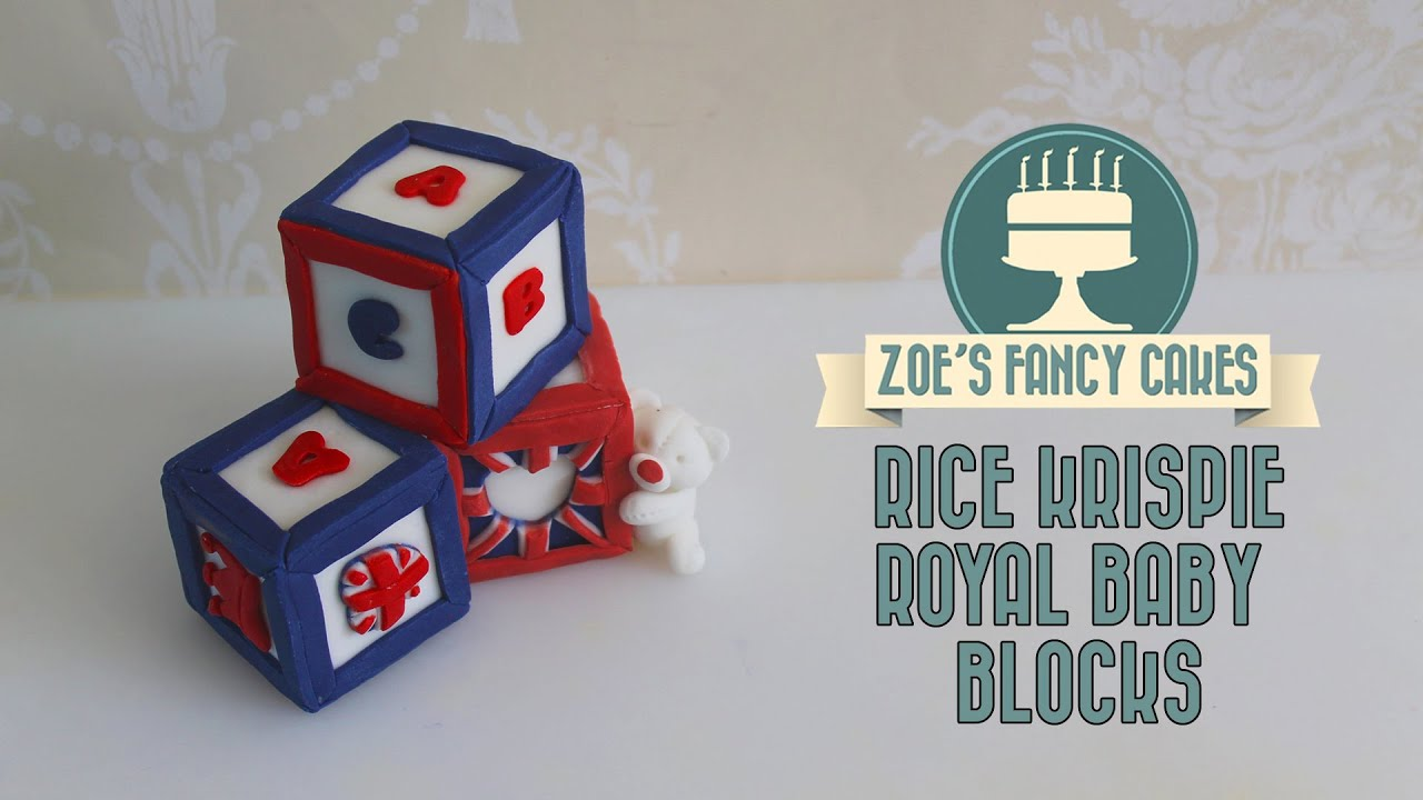 Royal baby blocks How to make rice krispie and fondant ...