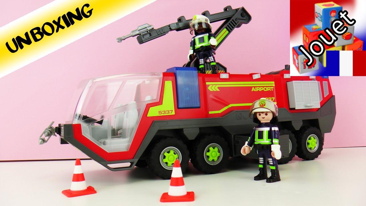 Camion de pompier de l 39 a roport playmobil city action - Playmobil de pompier ...