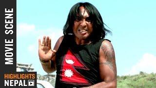 Rajendra Khadgi Fight Scene | KANCHHI MATYANG TYANG | Jaya Kishan Basnet, Sarika KC