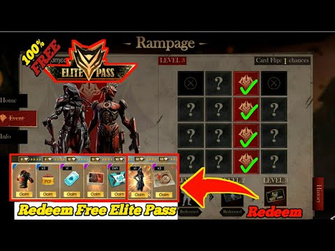 How To Get Free Elite Pass In Free Fire//how To Complete Rampage Flip Event Level 3 .