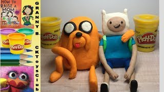 Finn and Jake (Adventure Time) made with Play-Doh. By Granny B.