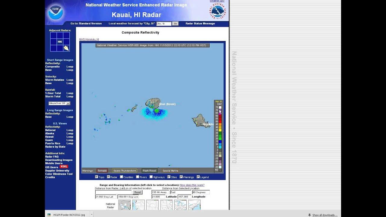 Radar Information on www weather gov/hawaii