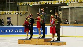 Церемония награждения Танцы на льду Линц Гран при по фигурному катанию среди юниоров 2021 22