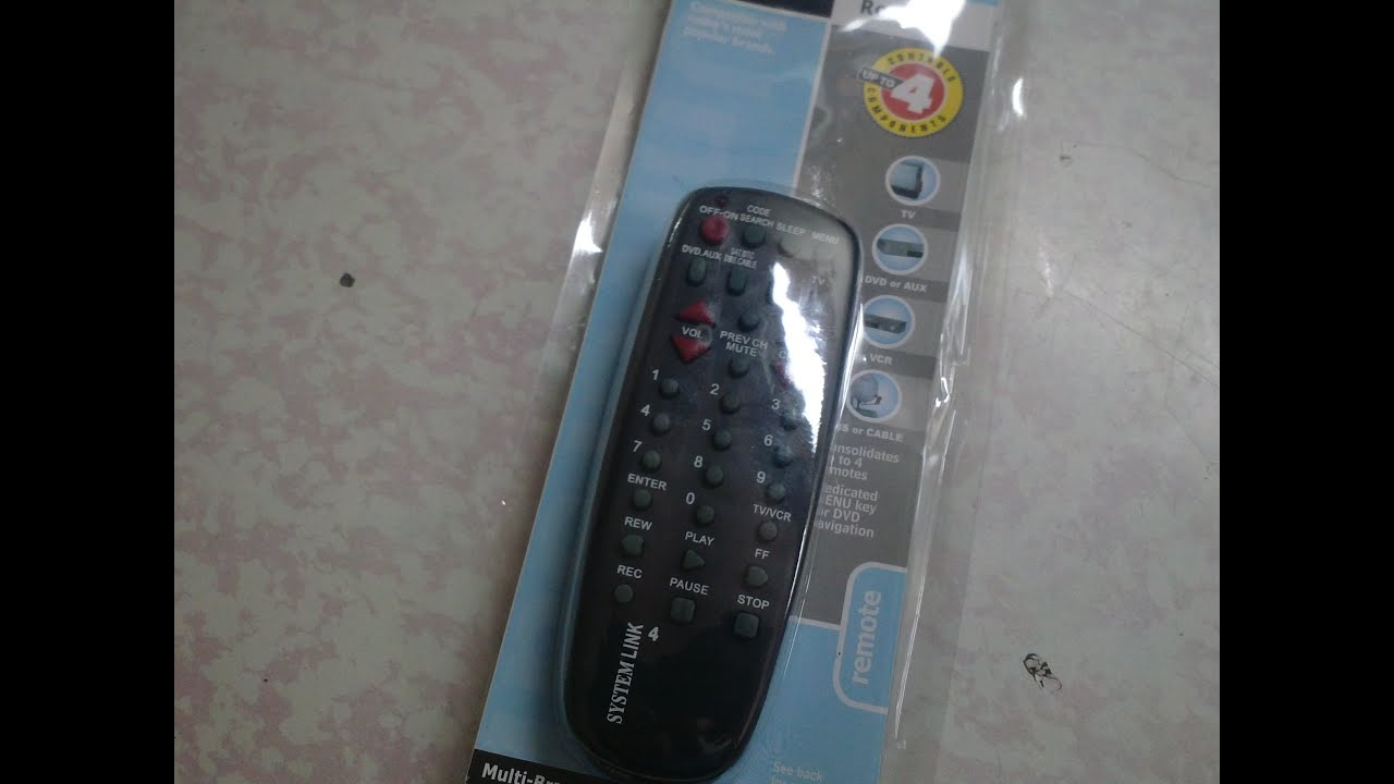 how to set rca remote to tv