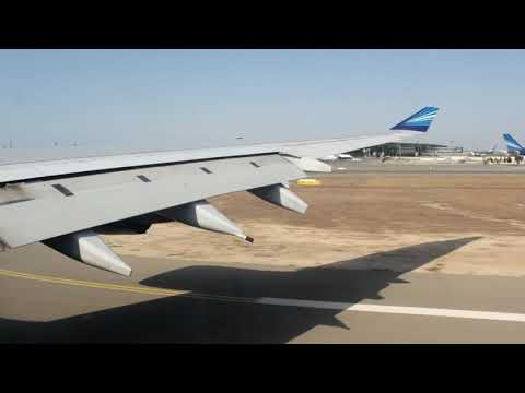 AIRBUS A340-500 AZERBAIJAN AIRLINES TAKE OFF FROM BAKU (GYD)