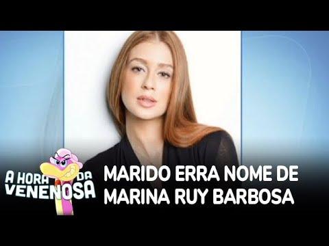 Marido erra nome de Marina Ruy Barbosa em declaração