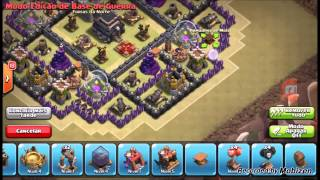 LAYOUT CV9 GUERRA/ANTI Dragão/Corredor - Clash Of Clans