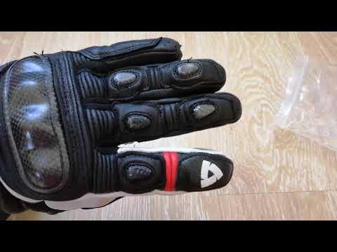 Кожаные мотоперчатки Revit Chevron беглый обзор