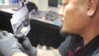 World Famous Ink's Popo Tattoos Incredible Tribute to Jarvis' Uncle at United Ink(Having been tattooed by Zhang