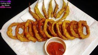 ক্রিসপি অনিয়ন রিংস ও চিলি ফ্রাই    Chili Onion Rings Recipe     Bangladeshi Snacks