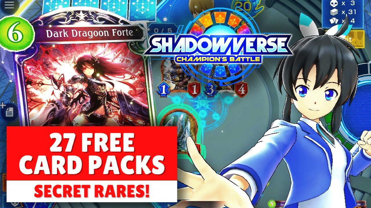 FREE CARD PACKS Shadowverse: Champion's Battle Nintendo Switch GAMEPLAY TRAILER SECRET RARE DECK