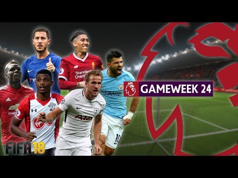 Southampton vs Tottenham | FIFA 18 Premier League -  Gameweek 24 Highlights