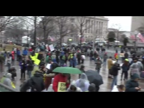 Protests against Trump's inauguration in Washington, DC (Streamed live)