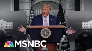 After Politicizing Pandemic, Trump Says Biden 'Playing Politics' On COVID-19 | The 11th Hour | MSNBC