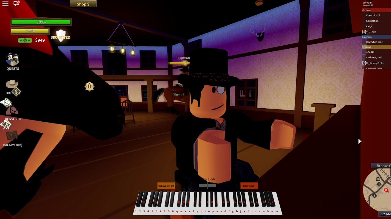 Piano Keyboard Roblox Ussr Anthem Old Town Road But Its On The Wild West Roblox By Xecular Piano