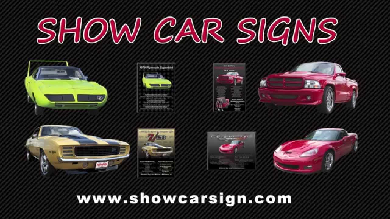 The Best Car Show Signs On The Market Today YouTube - Custom car show signs