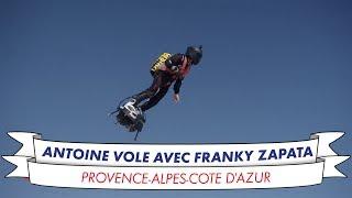 Antoine vole avec Franky Zapata !