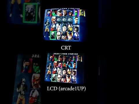 MAME ARCADE PROJECT - CRT monitor vs LCD (ARCADE1UP) // YOUTUBE SHORTS #shorts #mortalkombat from JDCgaming